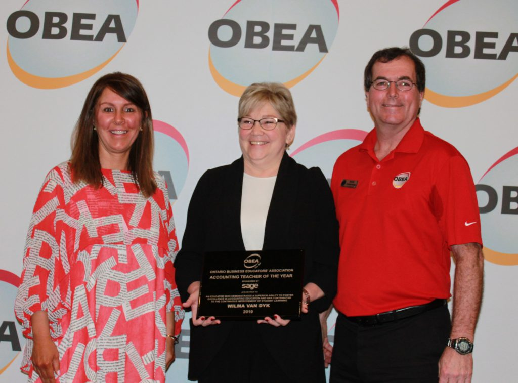 Accounting Teacher of the Year - Wilma Van Dyk-Waterloo DSB